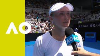 Aliaksandra Sasnovich on-court interview (2R) | Australian Open 2019