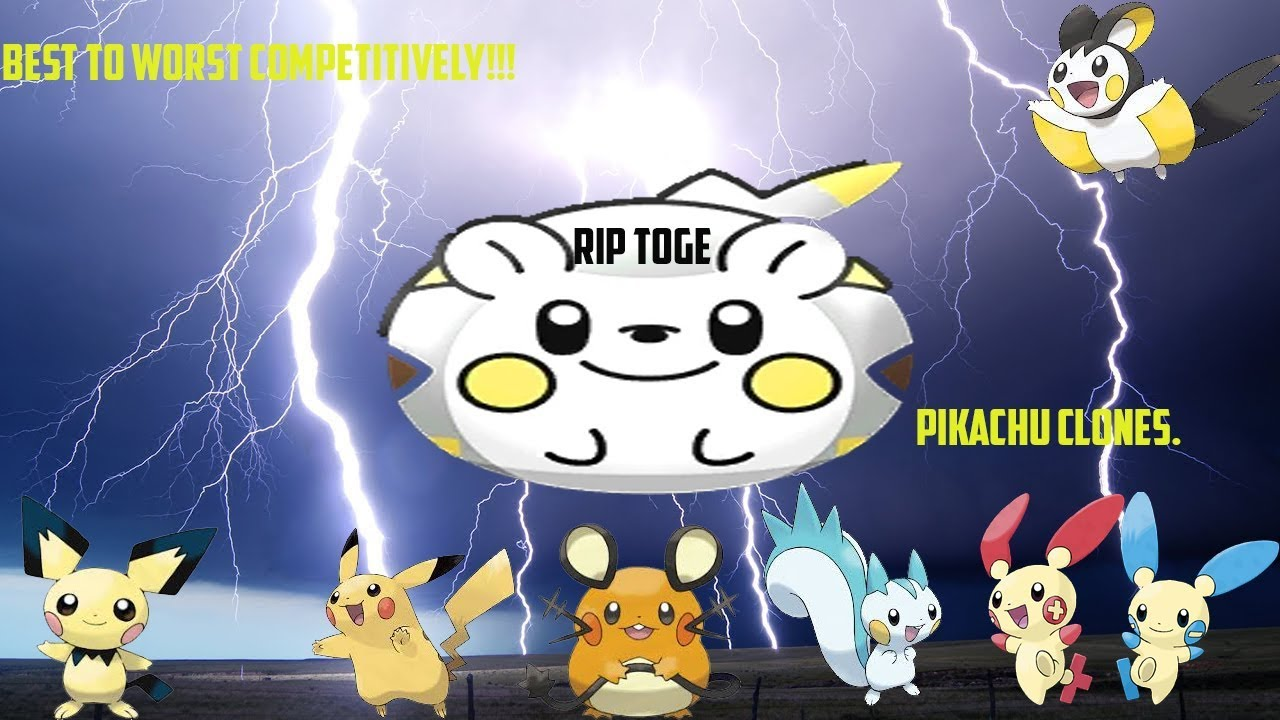 Best To Worst Competitively Pokemon Pikachu Clones Youtube