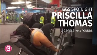 Leg Press - 643 lbs. - GGS Spotlight Priscilla Thomas