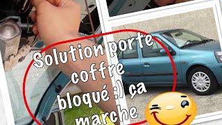 porte du coffre bloqué, (Renault Clio 2) voici une solution simple et efficace