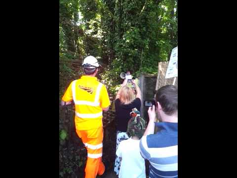 Whitstable vs Network Rail tree protest John Burrows loses it!