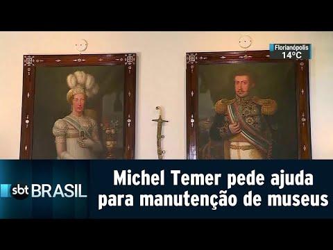 Temer pede ajuda de banqueiros e empresários para manutenção de museus | SBT Brasil (05/09/18)