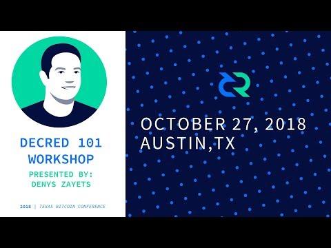 Decred 101 - Workshop and presentation by DZ | TBC 2018