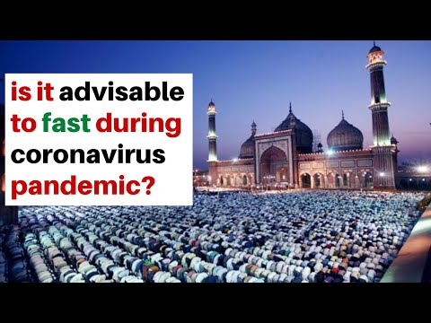 is it advisable to fast during coronavirus pandemic?