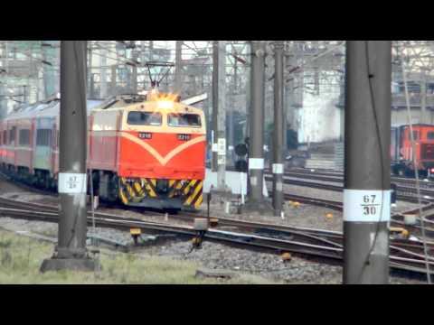 [HD] The Taiwan TRA down Chu-Kuang Express No. 523 haul by GE (E42C) E210) at Zhongli Station