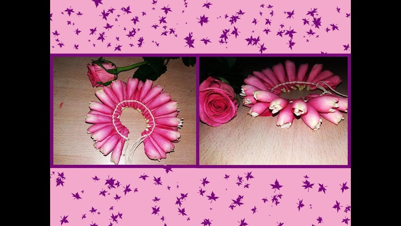 Pink Rose Petals Jadai Veni For Marriage Hair Decoration How To