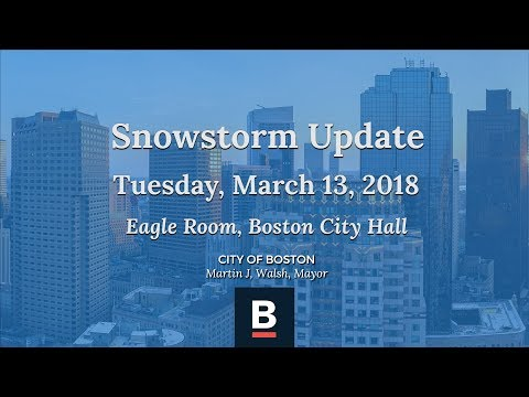 Snow Storm Press Conference Update 3-13-18
