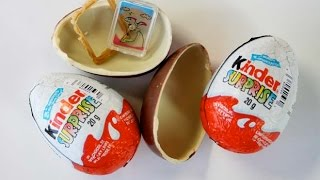 Kinder Surprise Eggs 2015 Unboxing - #KinderCollection 4 - Cartoon Games