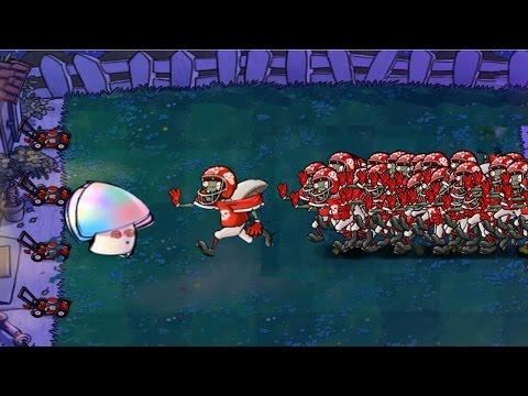 Amazing 499 Football Zombie vs Giant Hypno Shroom Epic Hack PVZ