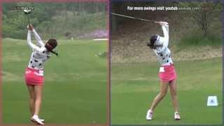 [Slow HD]  AHN Shin-Ae Dual View Driver Golf Swing 2013 (1)_KLPGA Tour