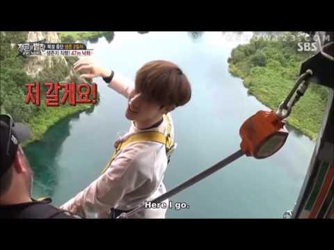 Mark Got7, UEE, Sung Hoon, un Man Bunjee Jump Law of the Jungle New Zealand 2017
