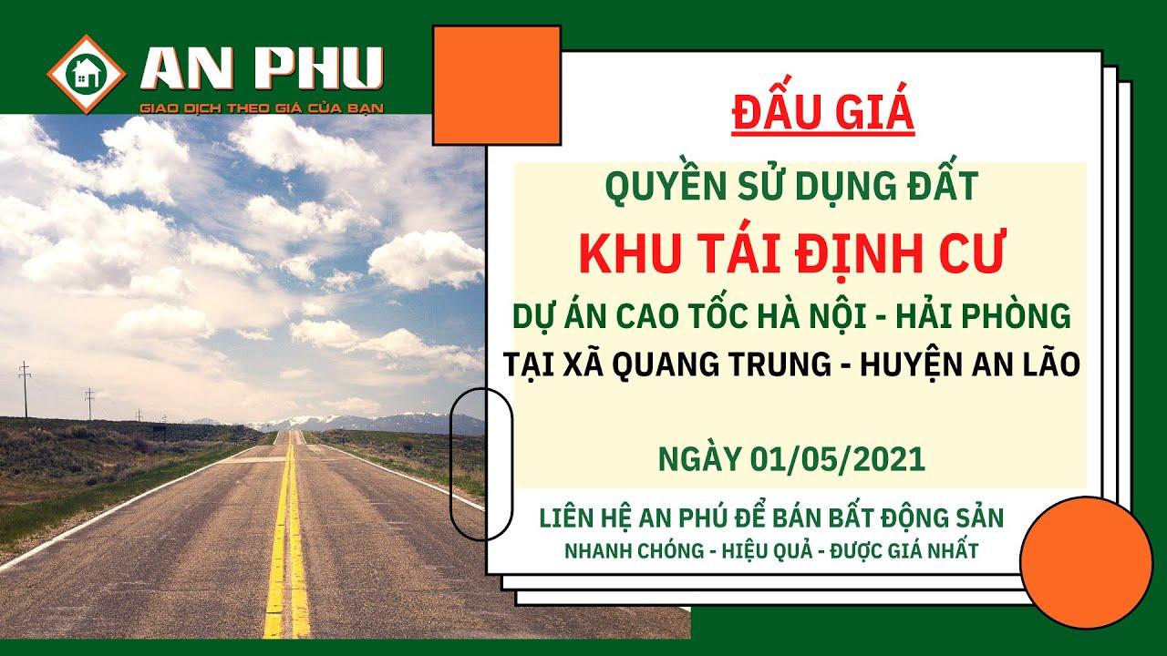 image ✅Đấu giá Khu tái định cư Dự án cao tốc Hà Nội - Hải Phòng trên địa bàn xã Quang Trung - Huyện An Lão