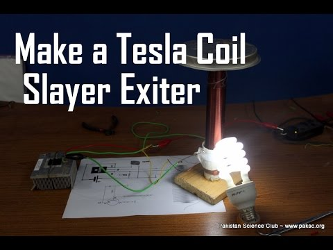 Tesla Coil Slayer Exciter How to Make Simple step by step DIY Tesla Coil