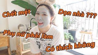 Làm Phụ Nữ có thích dọn nhà | Gia Đình Cam Cam Vlog 82