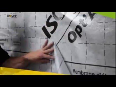 Comment installer une membrane d 39 tanch it l 39 air avec opt 39 air d 39 isover youtube - Membrane opt air ...