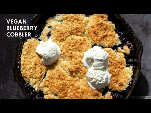 VEGAN BLUEBERRY COBBLER - NO OIL | Vegan Richa Recipes