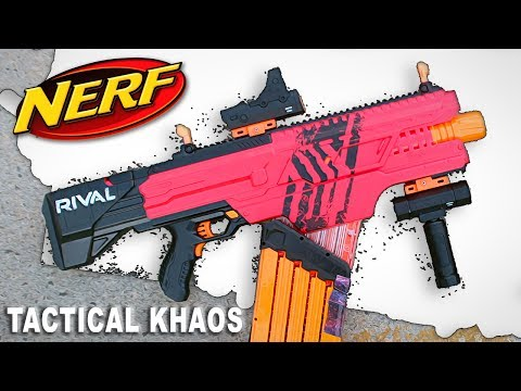 [HOW TO BE TACTICOOL] Pimp Out Your Nerf Rival Khaos With Nerf Rival Accessories