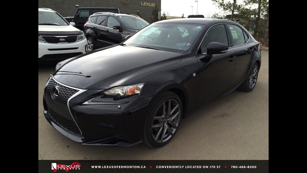new black on rioja red 2015 lexus is 250 awd f sport series 2 review lexus of edmonton new. Black Bedroom Furniture Sets. Home Design Ideas