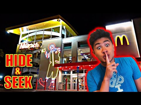 HIDE AND SEEK IN WORLD'S BIGGEST MCDONALDS!!
