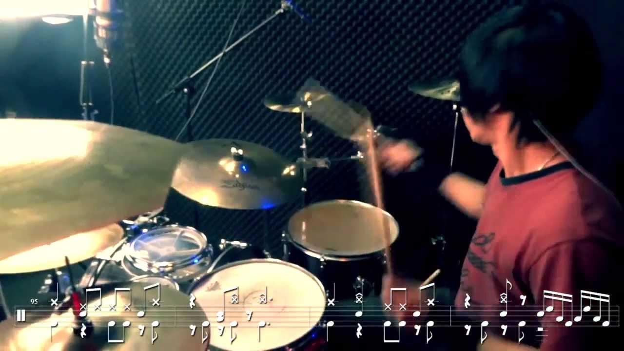 進擊的巨人OP-紅蓮的弓矢 DRUM COVER BY 小許 (內有鼓譜) - YouTube