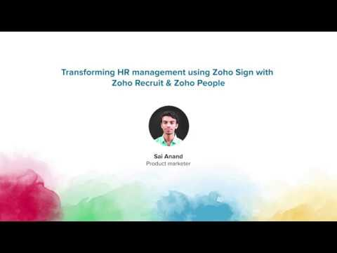 Transforming HR management using Zoho Sign with Zoho Recruit & Zoho People