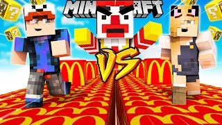 SZALONY WYŚCIG! - MCDONALD'S LUCKY BLOCKI MINECRAFT! (Lucky Block Race)   Vito vs Bella