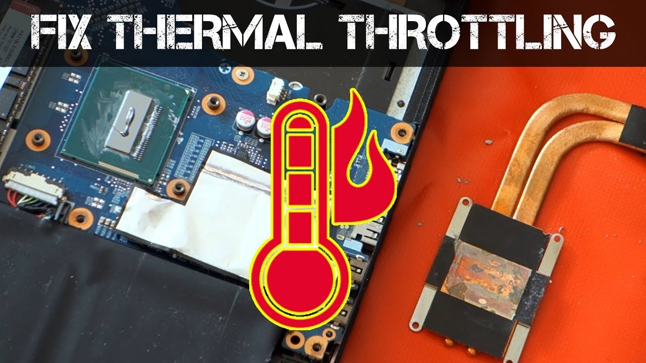 THERMAL THROTTLING! - How to fix an Overheating Laptop
