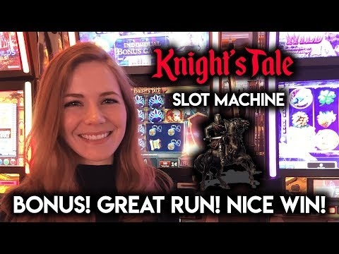 NEW Knights Tale Slot Machine! Bonus GREAT RUN!!!