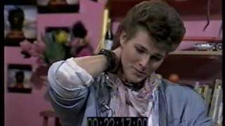 Morten Harket (Aha) talks to Tommy Boyd on TV-am, 1986 . This mater...