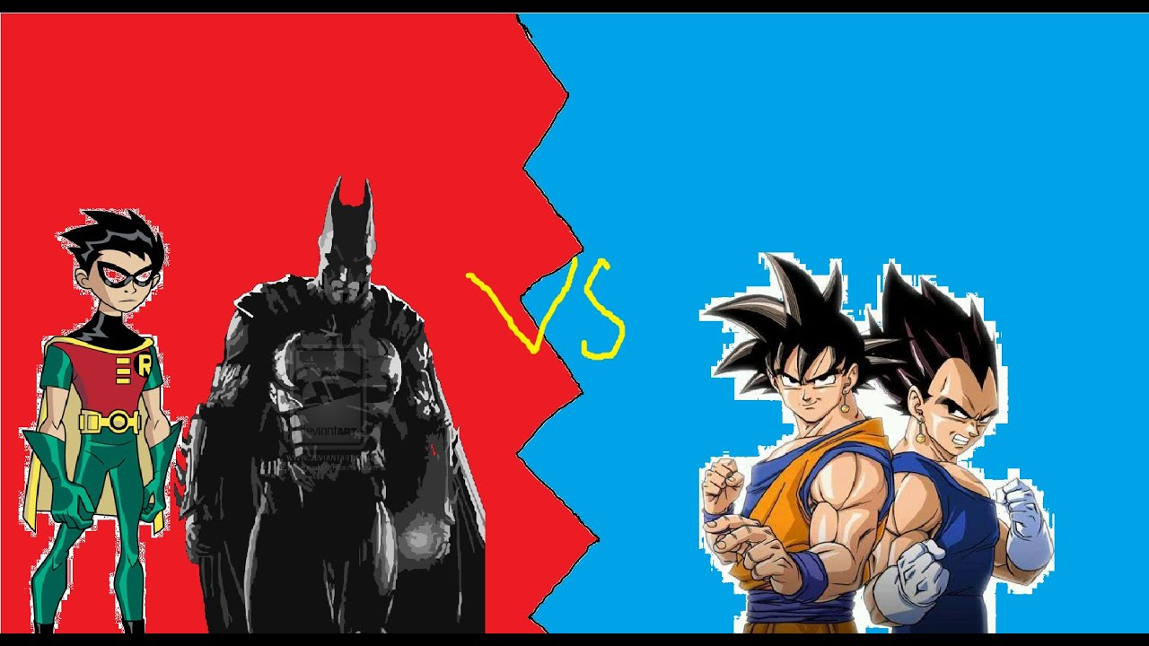 Mugen batman & robin vs Son Goku & Vegeta - YouTube