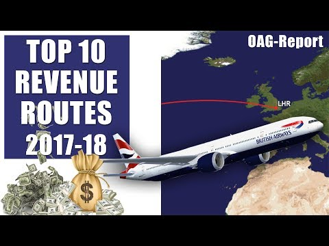 Top 10 Biggest Airline Money Making Routes In The World - 2018