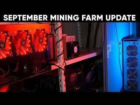 Miners Off? September Update (Cursed Mining Farm #18) GPU ASIC FPGA CPU Cryptomining