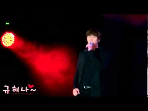 [fancam] 110622 Olympic hall Opening Ceremony - Sorry sorry Answer (KyuHyun focus)