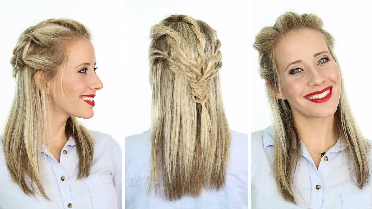Twisted Pull Back Hairstyle Inspired Reign