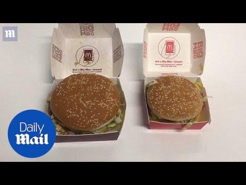 Compare The Original Big Mac To The Grand Big Mac - Daily Mail