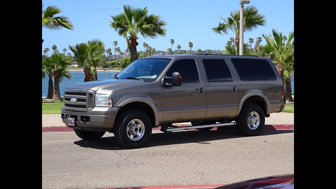 2005 Ford Excursion Eddie Bauer 6 0l Diesel 4x4 4wd Fully