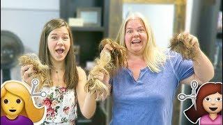 SHOCKING MOTHER DAUGHTER HAIR MAKEOVER TRANSFORMATION