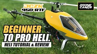 BEGINNER RC HELICOPTER - JCZK 450 DFC! - How to Tutorial & Review