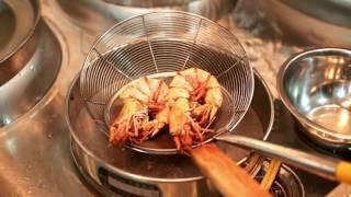 креветки на гриле в остром соусе