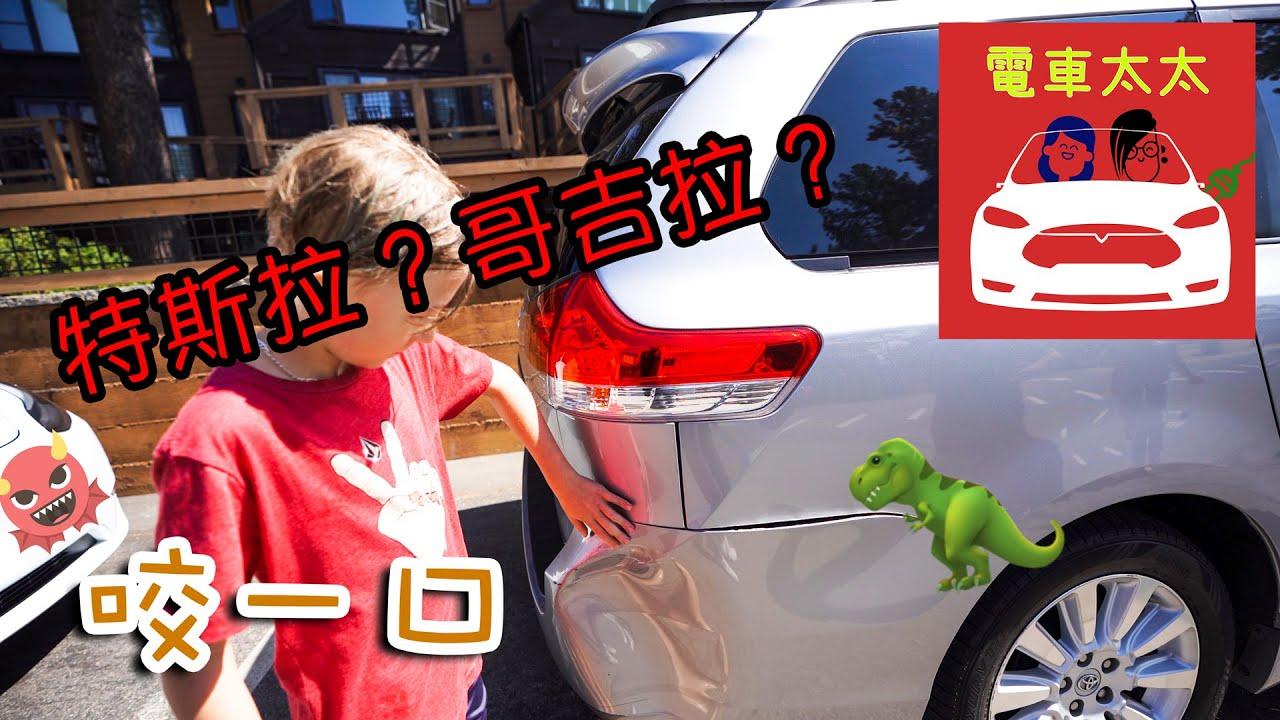 太太生日驚喜揭曉!超大格停車位Tesla自動停車居然撇凹了前車保桿 😭😭😭 片尾一起唱起來~