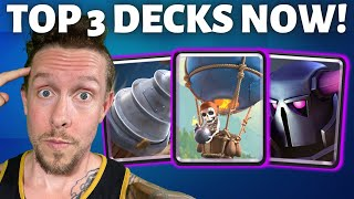 Top 3 Decks RIGHT NOW in Clash Royale (CWA Tournament Series, Ep 1)