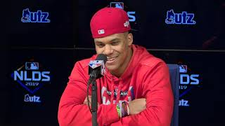 Juan Soto explains why he shimmies during at-bats