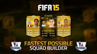 THE FASTEST POSSIBLE BPL TEAM! w/ IF DI MARÍA! | FIFA 15 Ultimate Team