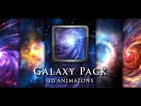 Живые обои для Андроид Galaxy Pack