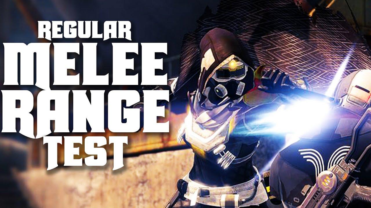 regular melee range destiny default melee test warlock titan hunter melee ranges youtube