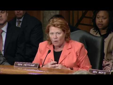 Heitkamp Discusses Threats to the Homeland at Senate Committee Hearing