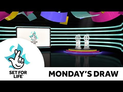 The National Lottery 'Set For Life' Draw Results From Monday 25th November  2019