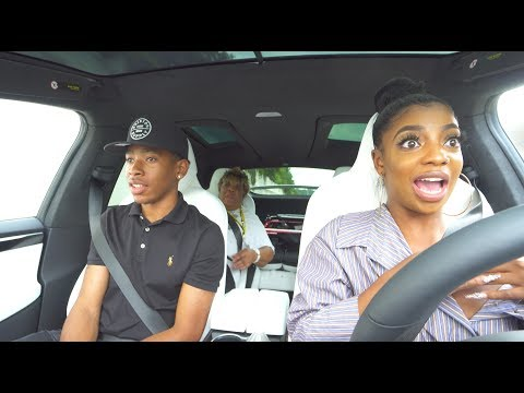 """PRANKING GRANDMOTHER WITH TESLA ON """"AUTOPILOT""""!! (SHE FREAKED OUT)"""