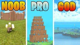 ROBLOX NOOB VS PRO VS GOD: MASSIVE BASE BUILD IN BOOGA BOOGA (ROBLOX ANIMATIONS)
