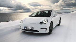 Tesla Model 3 vs. Diesel-SUV vs. Nordkap im Winter! (Dokumentation)
